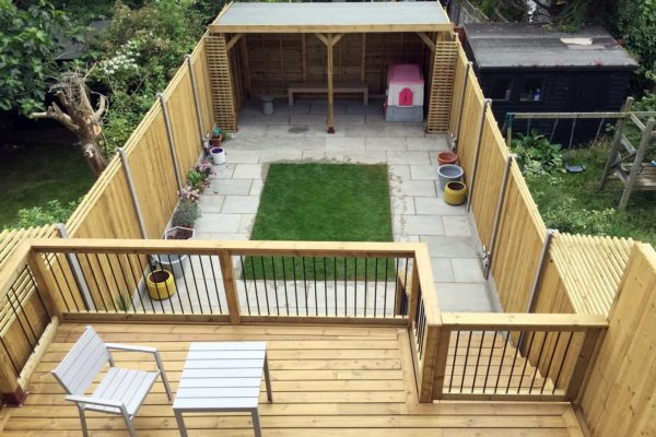 Garden deck, Crouch End, London