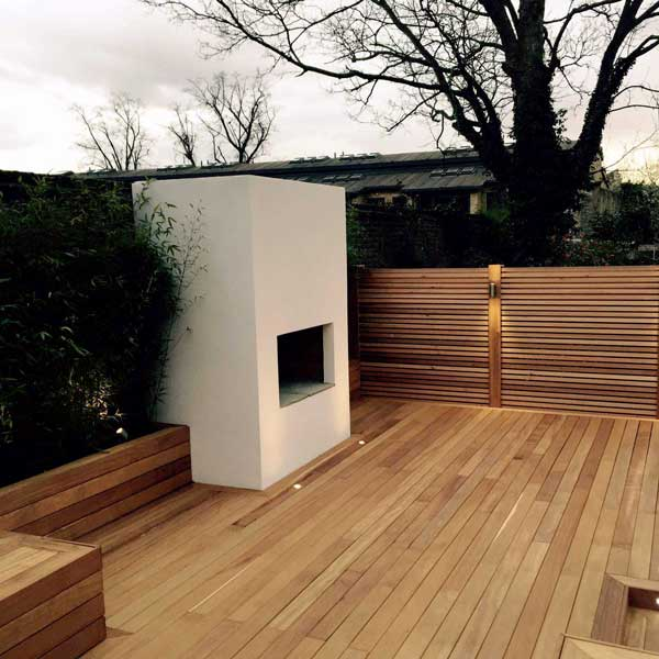 Hardwood garden deck in Hackney, London