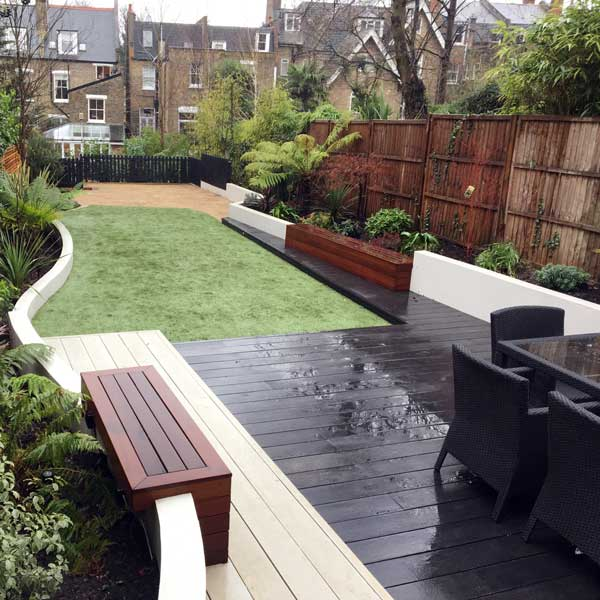 Garden deck, Highgate, London