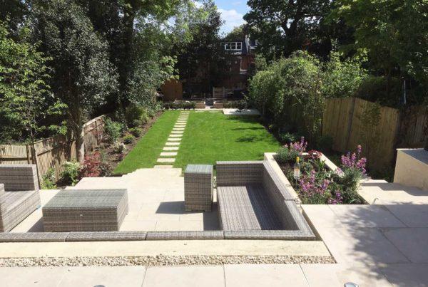 Family garden in Highgate, North London