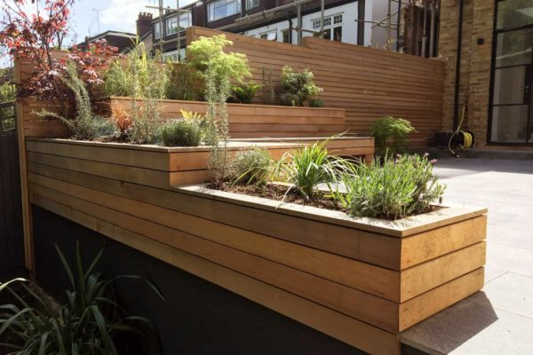 Tiered garden in Highgate, 7