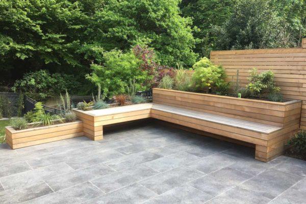 Tiered garden in Highgate, 8