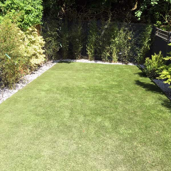 Artificial lawn in North London by FMN Gardens