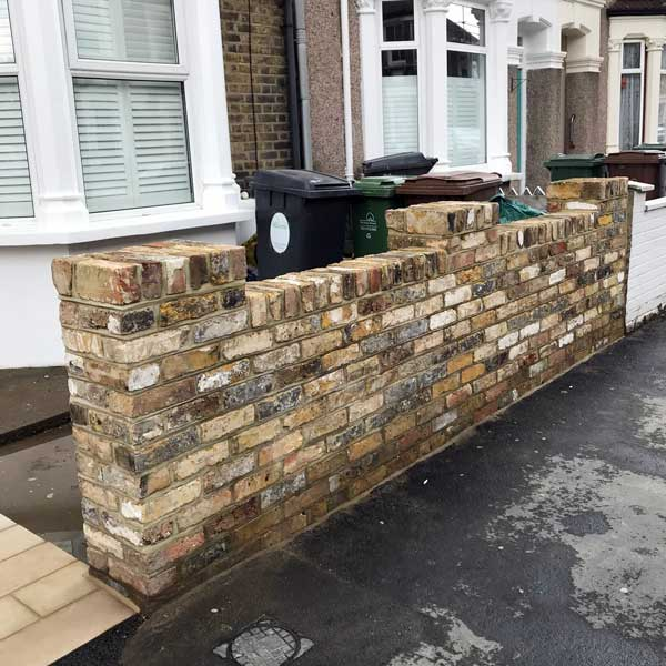 Front garden brick wall