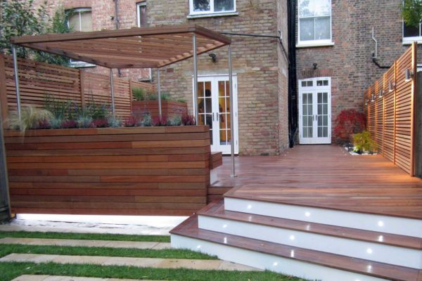 Garden deck, West Hampstead, London