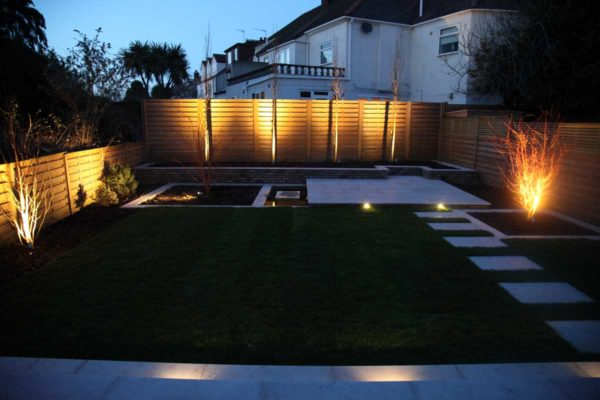 Garden lighting in Forest Gate