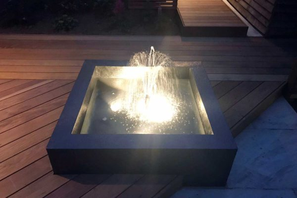Garden fountain water feature in North London
