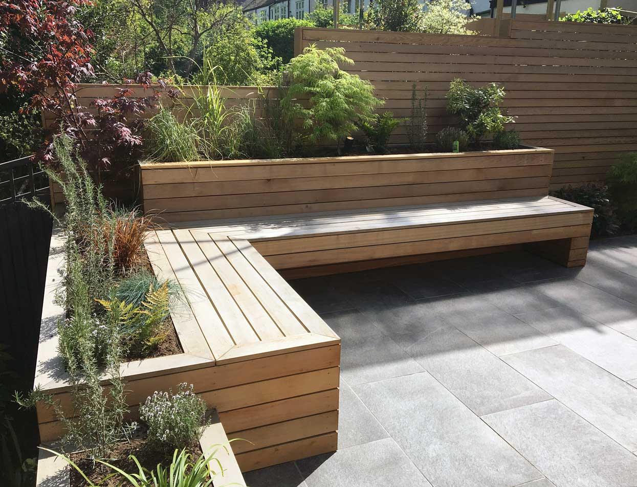 Oasis garden in Highgate, North London