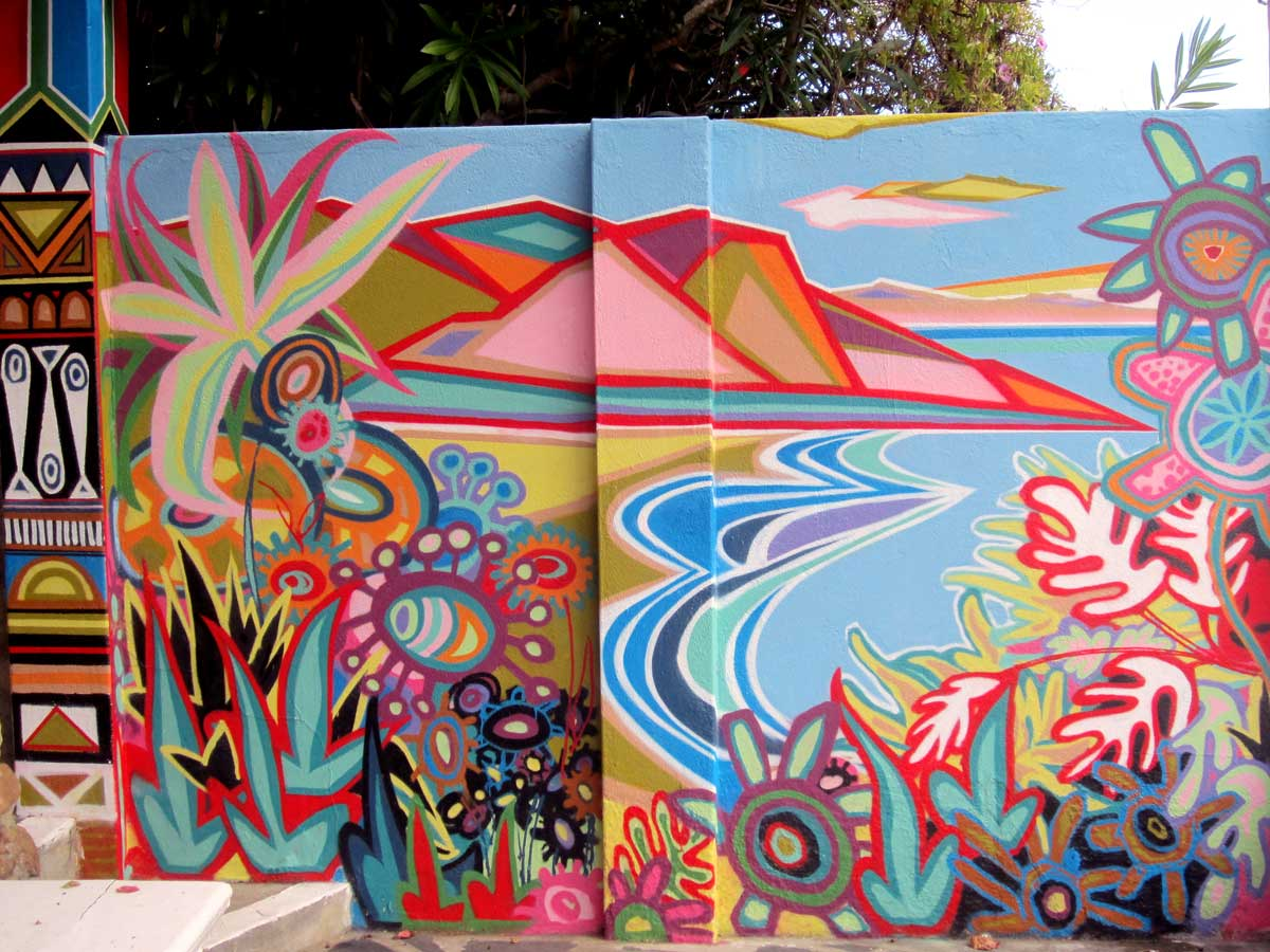 Colourful mural by FMN Gardens