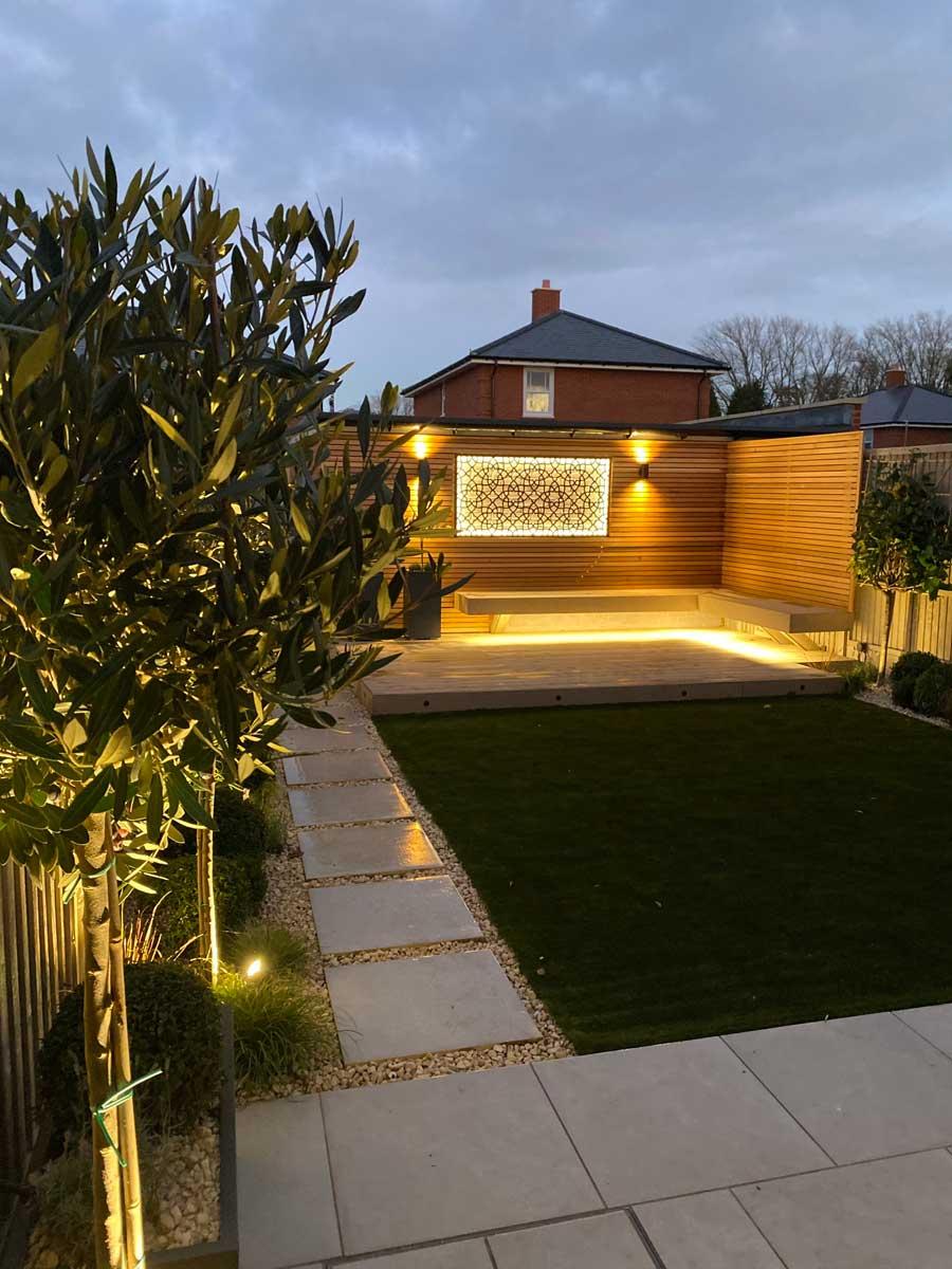 View of back garden in Radlett, 1
