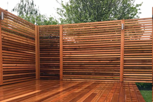 Red cedar batten fence, Finsbury Park