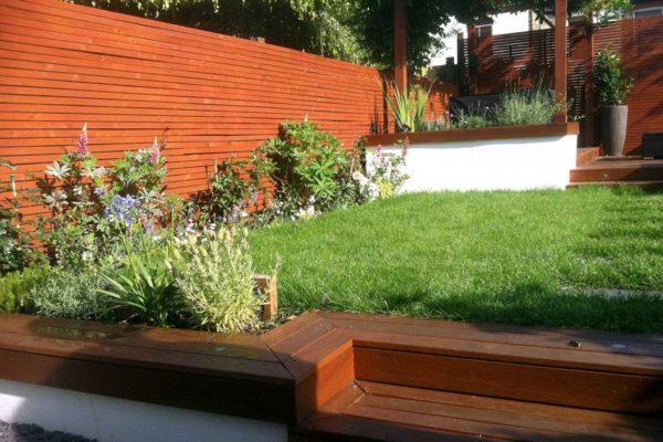 Red cedar garden fence, Turnpike Lane, North London