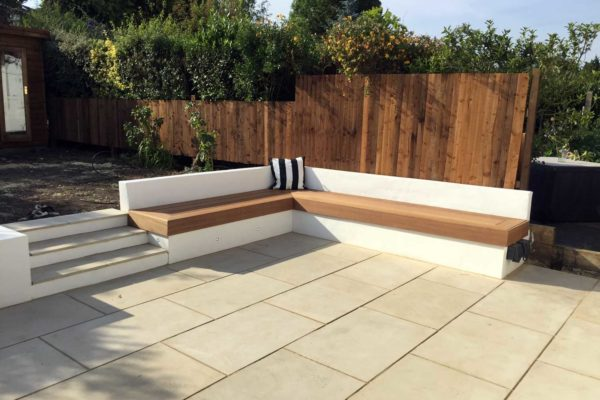 Sandstone patio in Southgate, North London