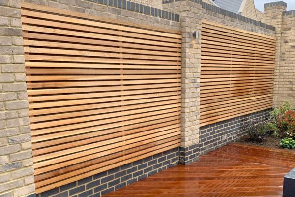 Red cedar cladding fence in Whetstone